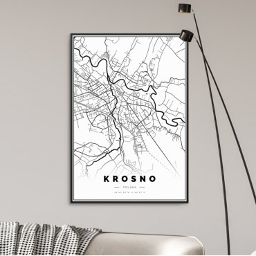 mapa krosna na plakacie
