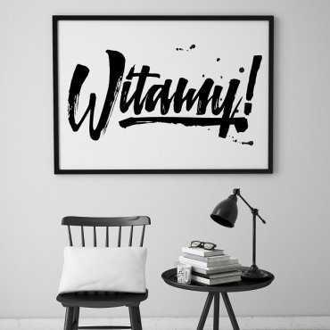 WITAMY! - Plakat designerski