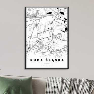 Mapa ruda śląska plakat
