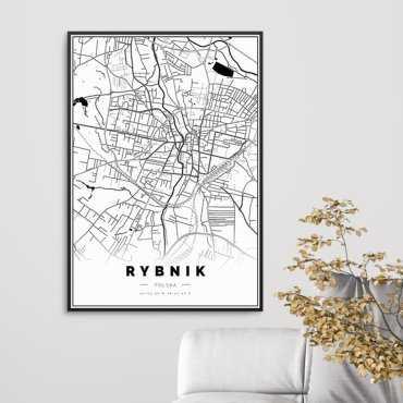 plakat mapa rybnika