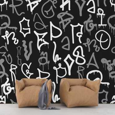 MODERN GRAFFITI - Tapeta na ścianę