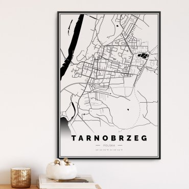 plakat mapa tarnobrzeg