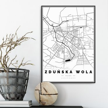zduńska wola mapa plakat