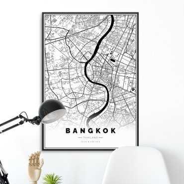 mapa bangkoku plakat