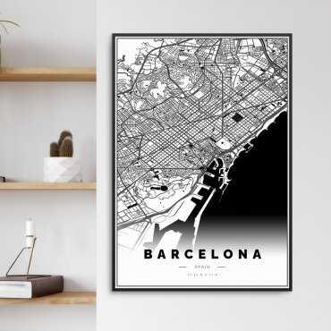 barcelona na plakacie w ramie