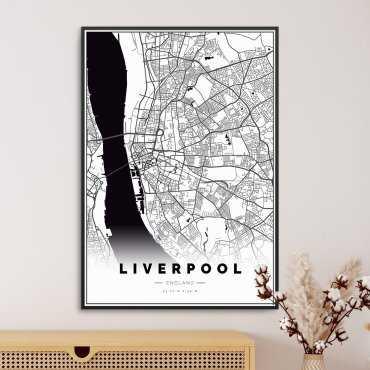 mapa liverpoolu na plakacie