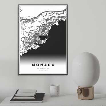 mapa monako na plakacie