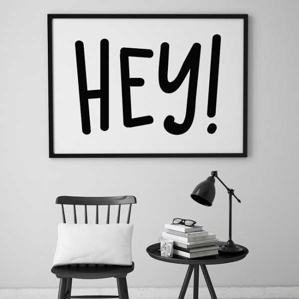 HEY! - Plakat typograficzny