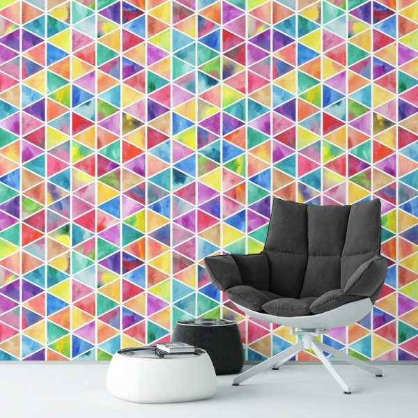 TRIANGULAR RAINBOW - Tapeta na ścianę