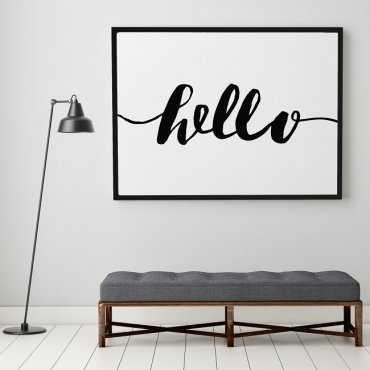 HELLO - Plakat typograficzny
