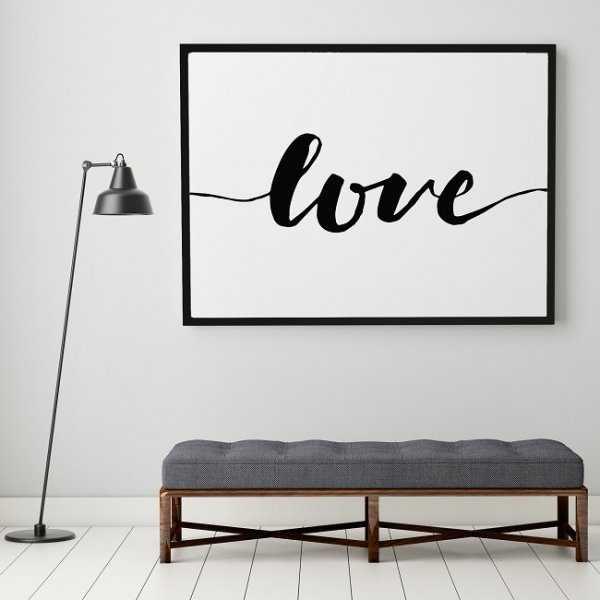 LOVE - Plakat typograficzny