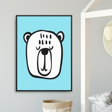 BLUE BEAR - Plakat dla dzieci