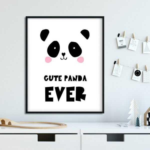CUTE PANDA EVER - Plakat dla dzieci