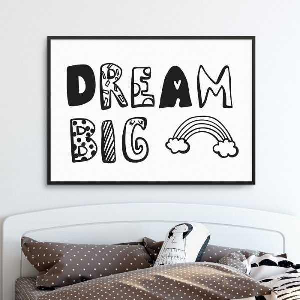 DREAM BIG RAINBOW - Plakat dla dzieci