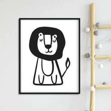 MR. LION - Plakat dla dzieci