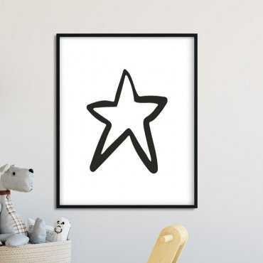 SCANDI STAR - Plakat dla dzieci