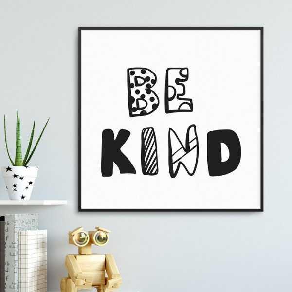 BE KIND - Plakat dla dzieci