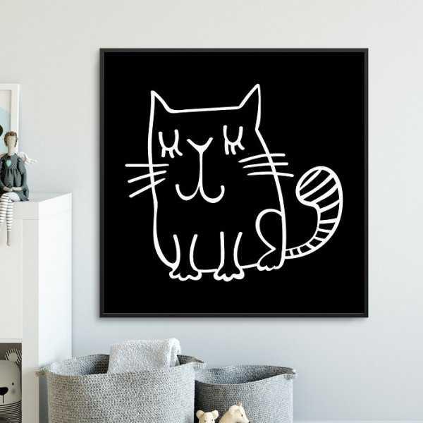 CUTE CAT - Plakat dla dzieci