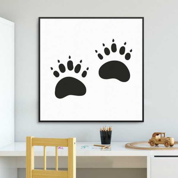 WILD FOOTPRINT - Plakat dla dzieci