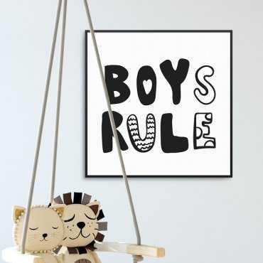 BOYS RULE - Plakat dla dzieci