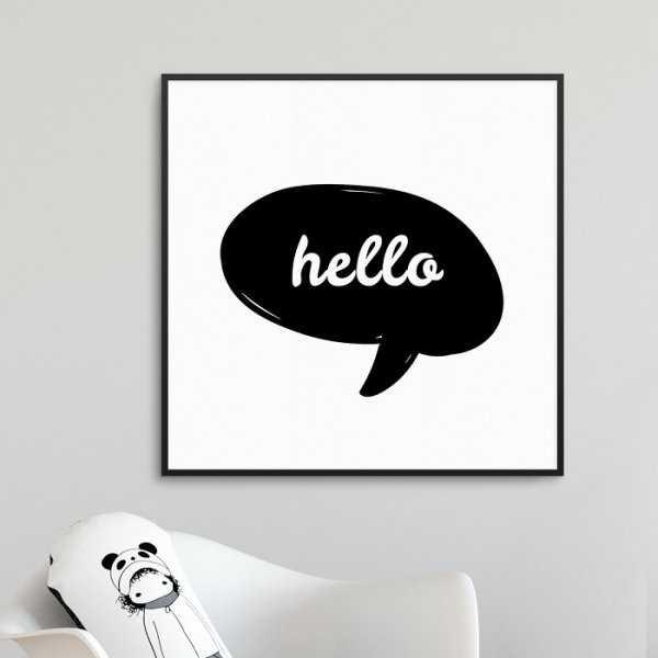 CUTE HELLO - Plakat dla dzieci