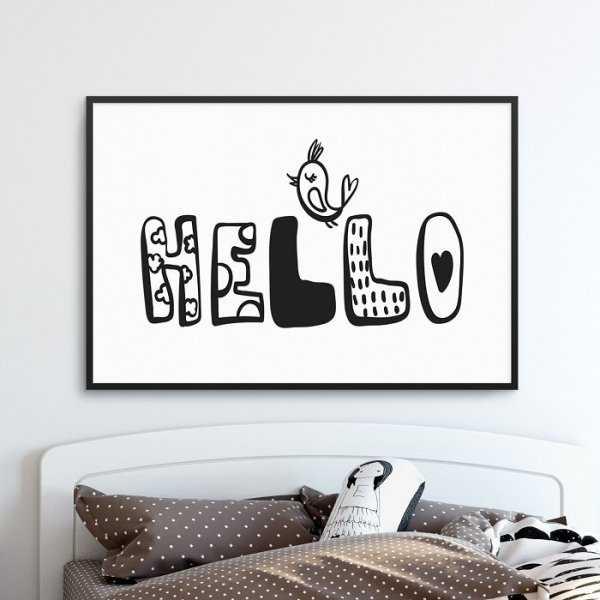 HELLO BIRD - Plakat dla dzieci