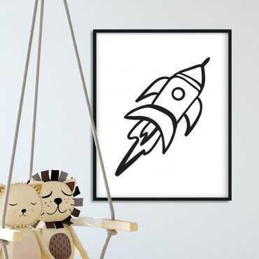 Rocket - Plakat dla dzieci