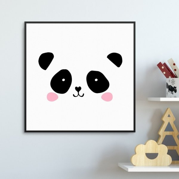 CUTE PANDA - Plakat dla dzieci
