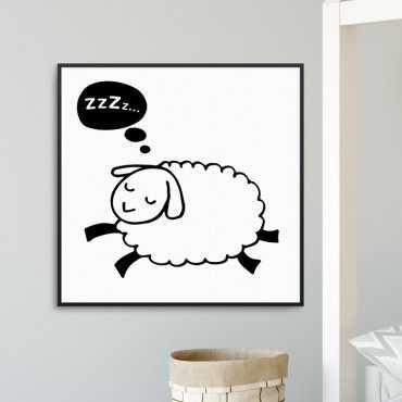 SLEEPY SHEEP - Plakat dla dzieci