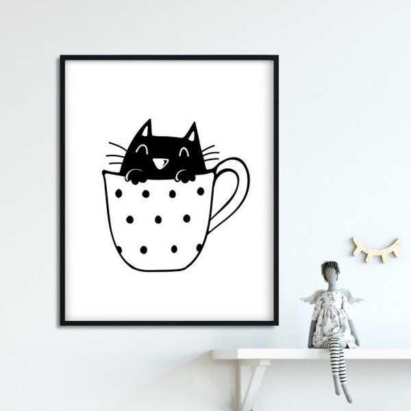 Lovely Kitty - Plakat dla dzieci