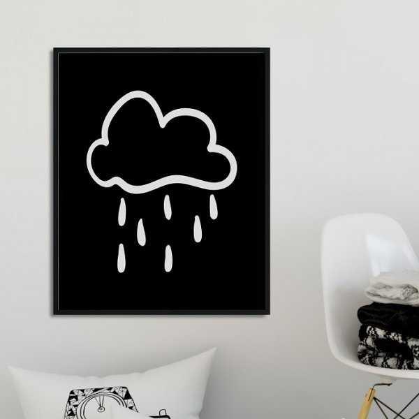 Scandi Cloud - Plakat dla dzieci