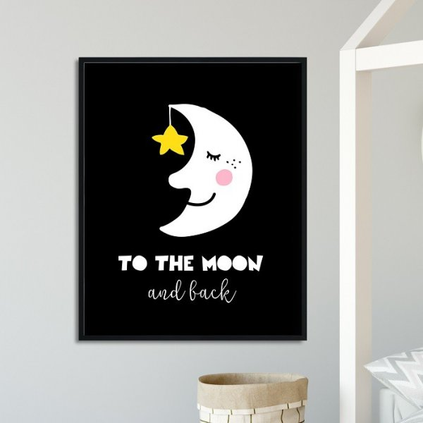 TO THE MOON AND BACK - Plakat dla dzieci