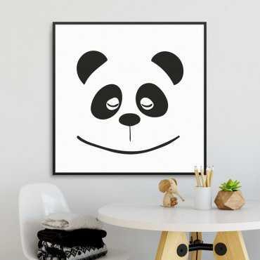 PANDA FACE - Plakat dla dzieci