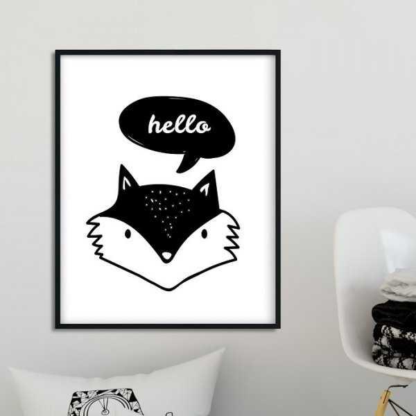 HELLO FOX - Plakat dla dzieci