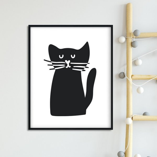 SCANDI CAT - Plakat dla dzieci