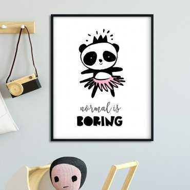 NORMAL IS BORING - Plakat dla dzieci