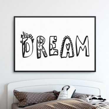 DREAM - Plakat dla dzieci