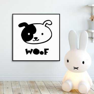 WOOF - Plakat dla dzieci