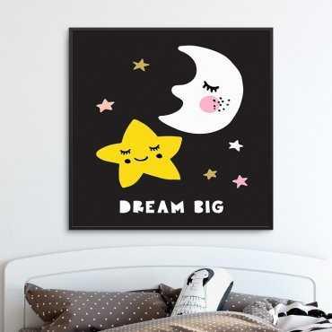DREAM BIG MOON - Plakat dla dzieci