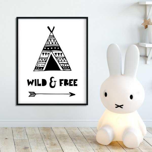 WILD & FREE - Plakat dla dzieci