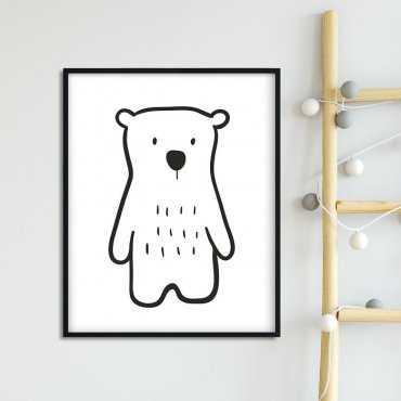 SIMPLE BEAR - Plakat dla dzieci
