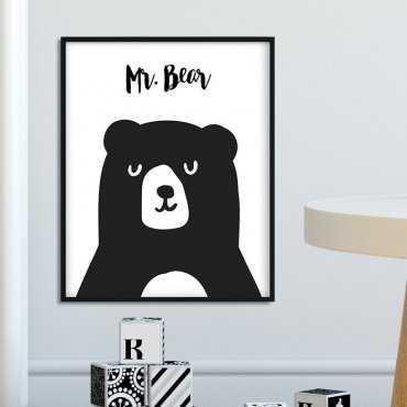 MR. BEAR - Plakat dla dzieci