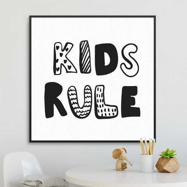 KIDS RULE - Plakat dla dzieci