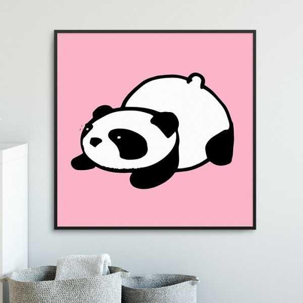 PINK PANDA - Plakat dla dzieci