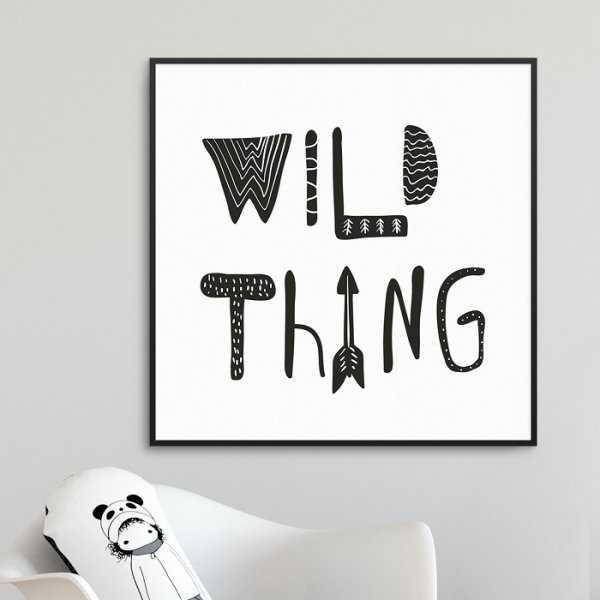 WILD THING - Plakat dla dzieci