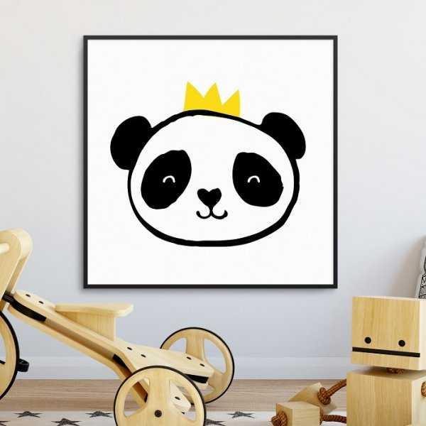 PANDA KING - Plakat dla dzieci