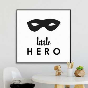 LITTLE HERO - Plakat dla dzieci