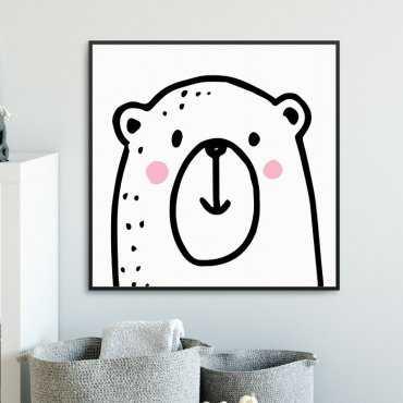 LOVELY BEAR - Plakat dla dzieci
