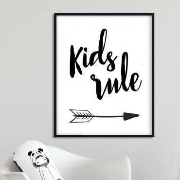 KIDS RULE ARROWS - Plakat dla dzieci