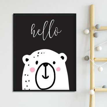 HELLO BEAR - Plakat dla dzieci
